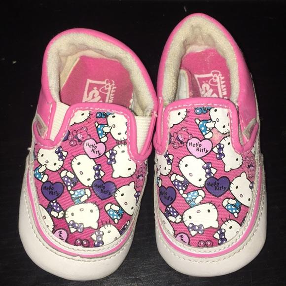 abe7aa1d9c Hello Kitty Baby Girl Vans Slip Ons. M 5c9d6afbc9bf50d75c04ee13